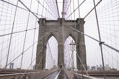 Passerelle de Brooklyn New York City Photographie stock
