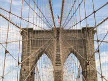 Passerelle de Brooklyn, New York City Photographie stock