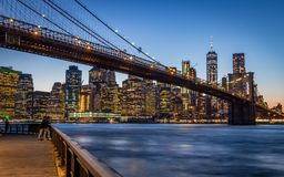 Passerelle de Brooklyn, New York City photos stock