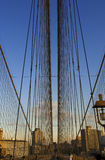 Passerelle de Brooklyn, New York, Etats-Unis Photo stock