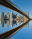 Passerelle de Brooklyn, New York, Etats-Unis Photo libre de droits