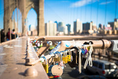 Passerelle de Brooklyn, New York, Etats-Unis Images stock