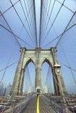 Passerelle de Brooklyn - New York - les Etats-Unis Photo libre de droits