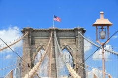 Passerelle de Brooklyn, NY Images libres de droits