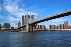 Passerelle de Brooklyn NYC Images stock