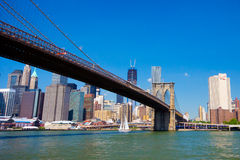 Passerelle de Brooklyn NYC Photo stock