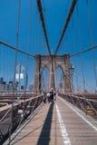 Passerelle de Brooklyn, NYC Photographie stock