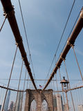 Passerelle de Brooklyn, NYC Images libres de droits