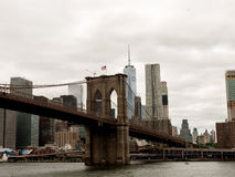 Passerelle de Brooklyn, NYC Images stock