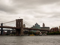 Passerelle de Brooklyn, NYC Photos stock