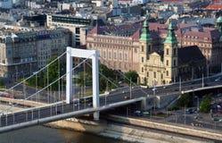 Passerelle de Budapest Images libres de droits