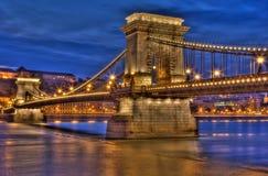 Passerelle de Budapest Photographie stock