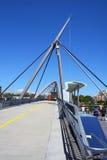 Passerelle de côté de fleuve de ville de Brisbane photographie stock