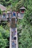 Passerelle de Capilano à Vancouver Images libres de droits