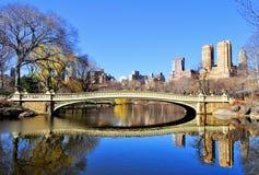 Passerelle de Central Park images libres de droits