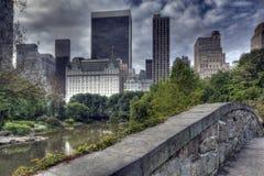 Passerelle de Central Park Gapstow Photos libres de droits