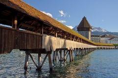 Passerelle de chapelle de Luzerne. Image stock