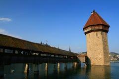 Passerelle de chapelle, Luzerne Images libres de droits