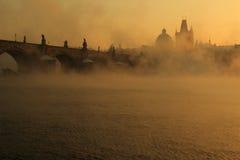Passerelle de Charles à Prague photos stock