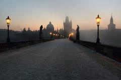 Passerelle de Charles à Prague Photos libres de droits