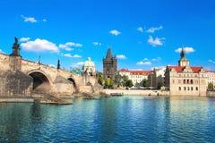 Passerelle de Charles à Prague Images libres de droits