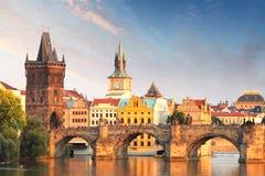 Passerelle de Charles à Prague, République Tchèque Photographie stock