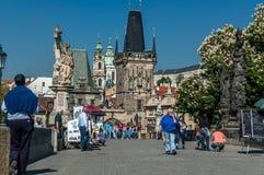 Passerelle de Charles à Prague, République Tchèque Photos stock