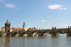 Passerelle de Charles de Prague Photographie stock libre de droits