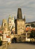Passerelle de Charles, Prague Images libres de droits