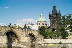 Passerelle de Charles, Prague photos stock