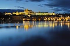 Passerelle de Charles, Prague, République Tchèque Image libre de droits