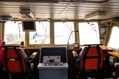 Passerelle de commande de vaisseau de guerre Photos libres de droits