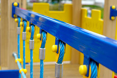 Passerelle de corde Photographie stock