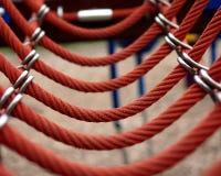 Passerelle de corde rouge Image libre de droits
