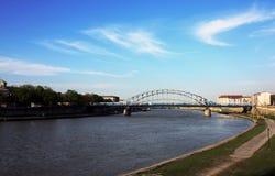 Passerelle de Cracovie Image libre de droits