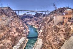 Passerelle de déviation de barrage de Hoover images stock