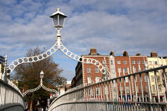 Passerelle de demi-penny, Dublin Photographie stock libre de droits