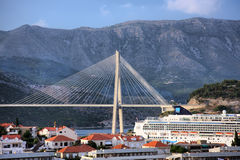 Passerelle de Dubrovnik photos libres de droits