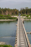 Passerelle de fleuve photo stock