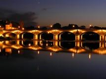 Passerelle de fleuve Photographie stock libre de droits