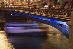Passerelle de fleuve de Chicago Image libre de droits