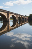 Passerelle de fleuve de Dordogne Photo stock