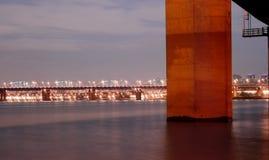 Passerelle de fleuve de Han Photos stock