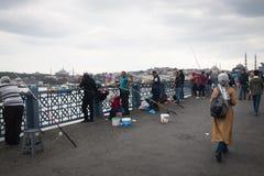 Passerelle de Galata à Istanbul, Turquie Photo stock