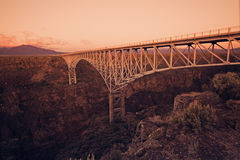 Passerelle de gorge de Rio Grande Photographie stock