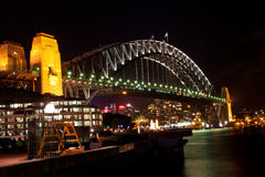 Passerelle de habor de Sydney Photos libres de droits