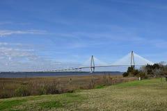 Passerelle de Jr Pont en Charleston South Carolina photographie stock