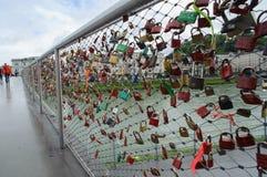 Passerelle de l'amour Photographie stock libre de droits