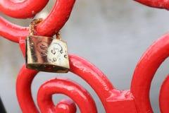 Passerelle de l'amour Image libre de droits