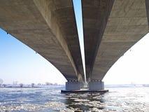 Passerelle de l'autoroute A1 à travers la rivière la Vistule Image libre de droits